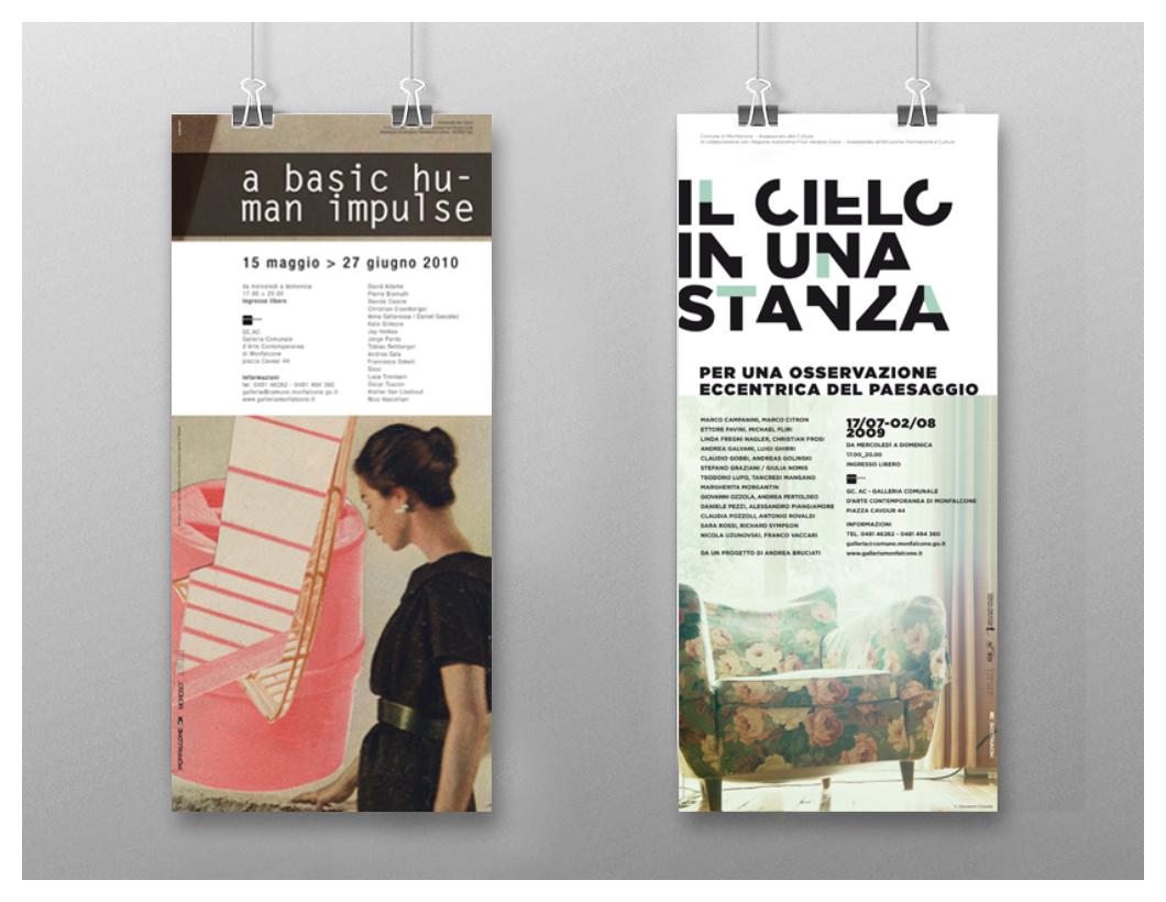 Galleria Comunale d'Arte Contemporanea di Monfalcone: un lustro di arte contemporanea - Locandine